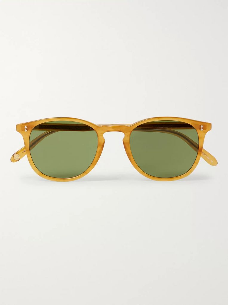 Garrett Leight California Optical Kinney 49 D-Frame Matte-Acetate Sunglasses