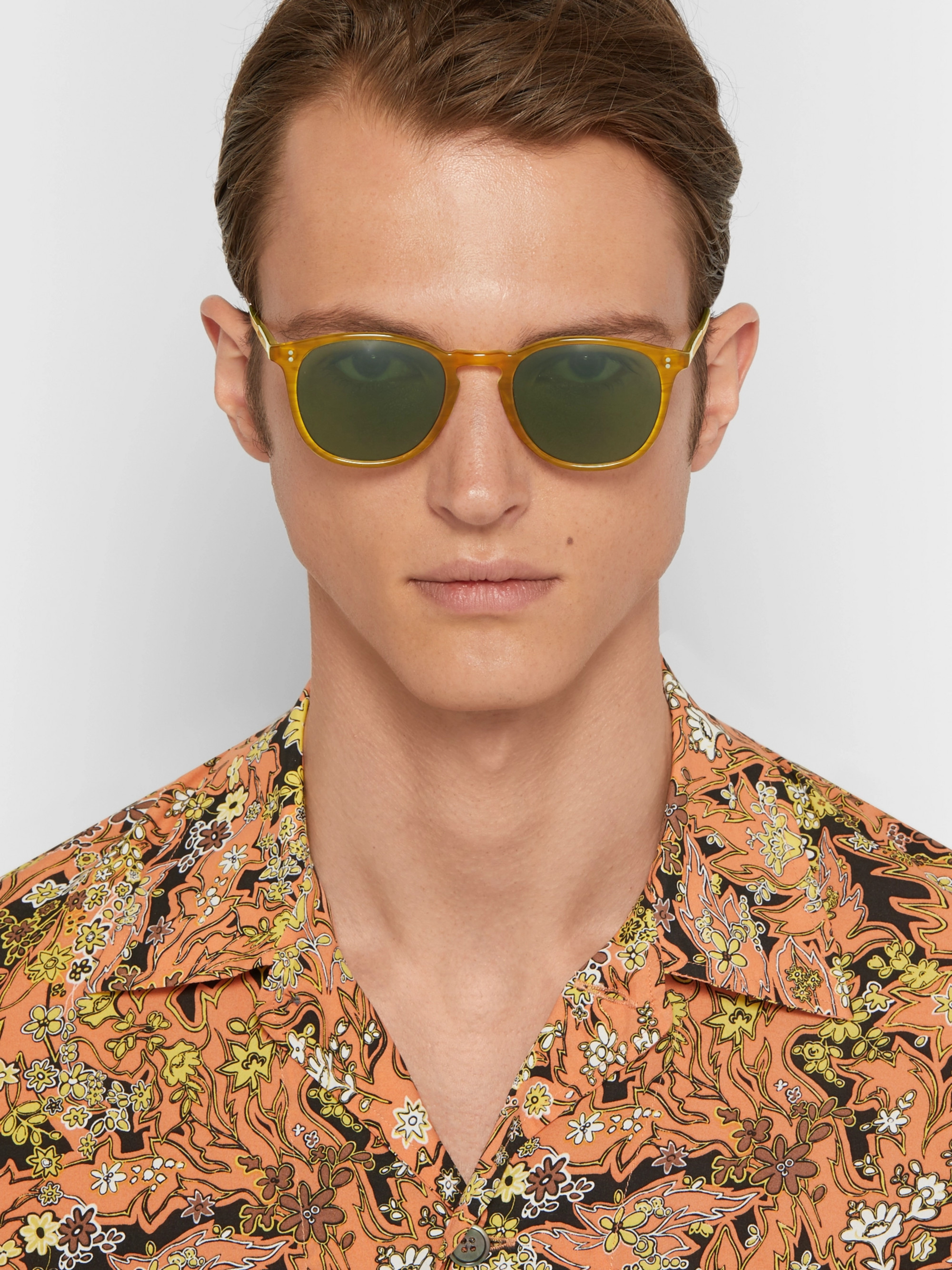 Garrett Leight California Optical Kinney 49 D-Frame Acetate Sunglasses