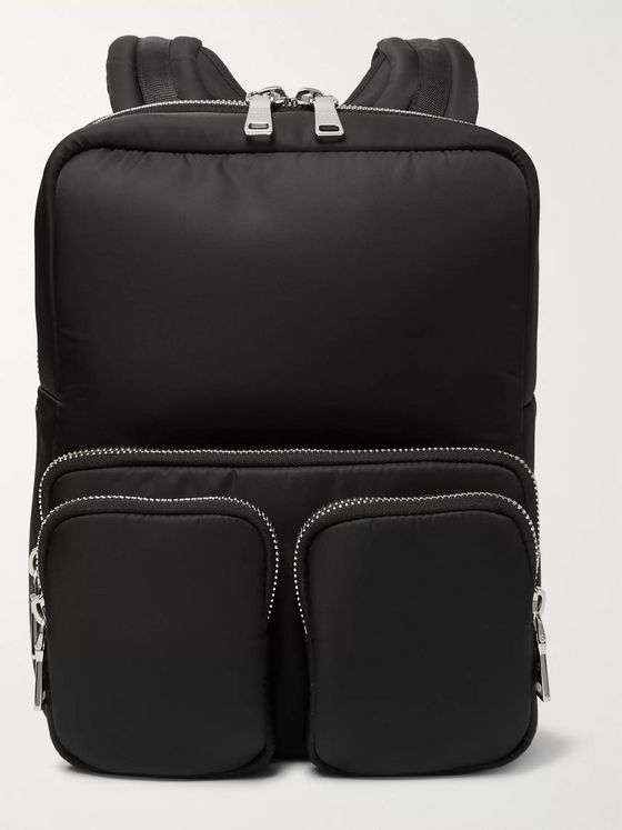 Prada Logo-Appliquéd Nylon Backpack