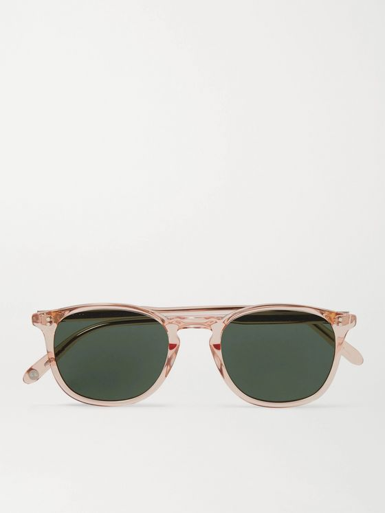 GARRETT LEIGHT CALIFORNIA OPTICAL Kinney 47 Round-Frame Acetate Sunglasses