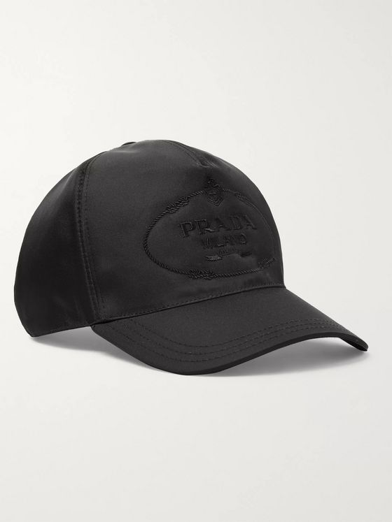 Prada Logo-Embroidered Nylon Baseball Cap
