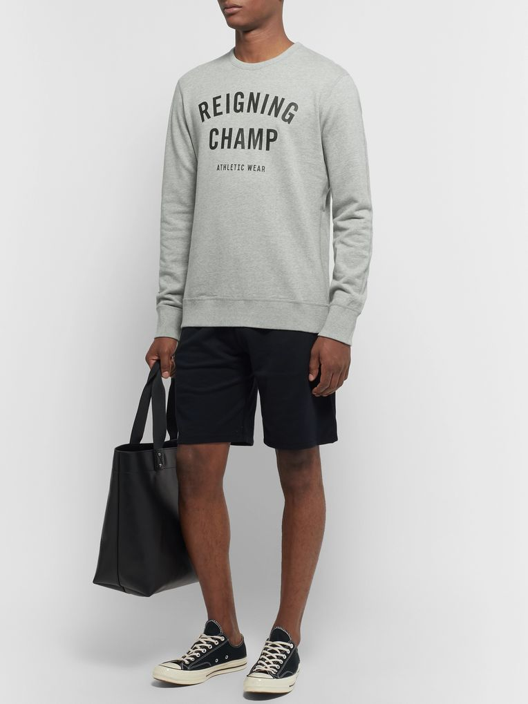 Reigning Champ Slim-Fit Logo-Print Loopback Cotton-Jersey Sweatshirt