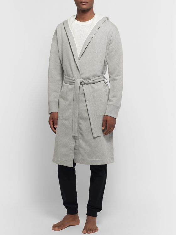 Reigning Champ Mélange Loopback Cotton-Jersey Hooded Robe
