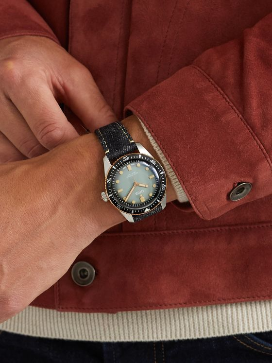 Oris + Momotaro Divers Sixty-Five Limited Edition Automatic 40mm Stainless Steel and Denim Watch, Ref. No. 733 7707 4337