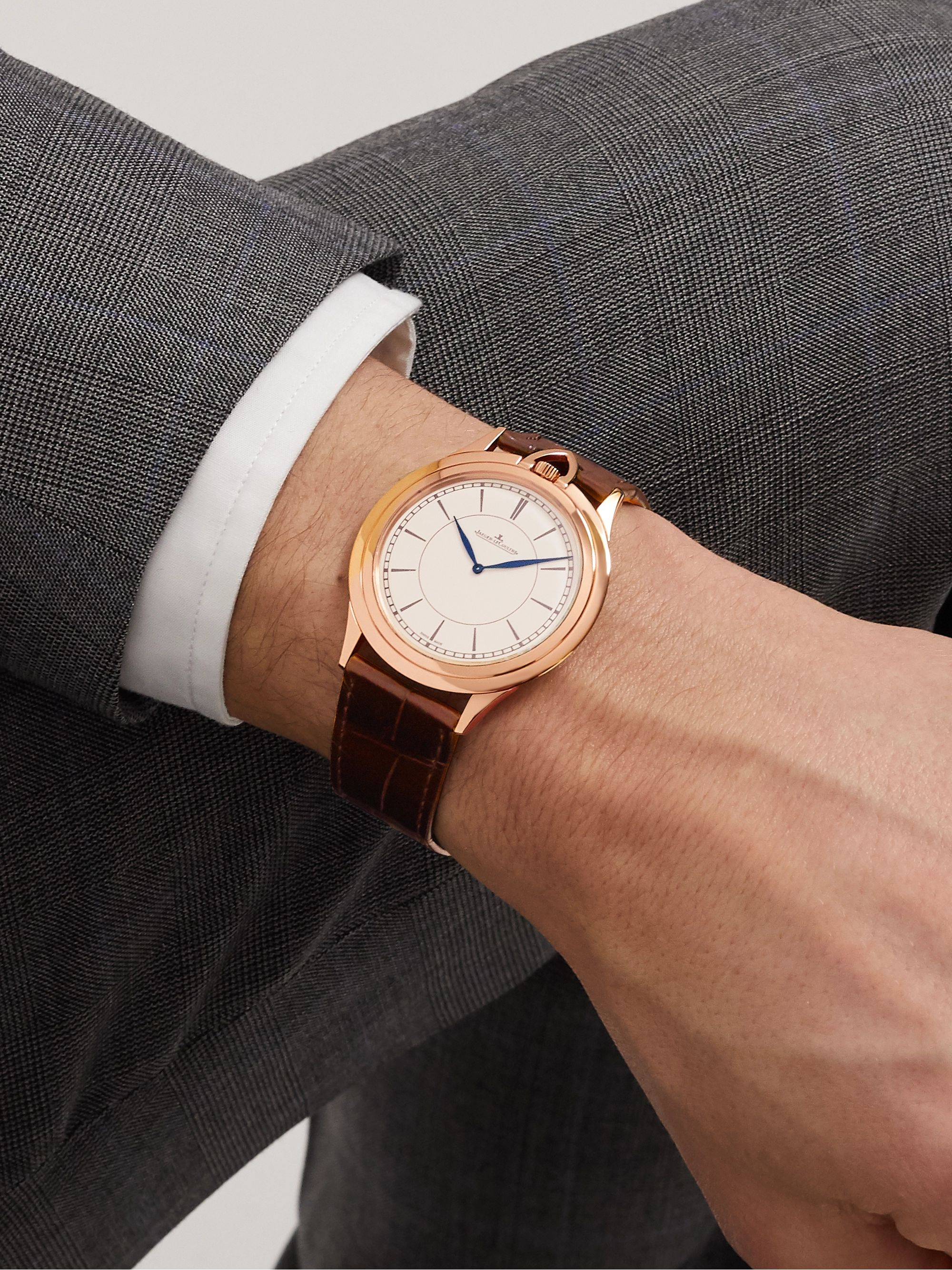Jaeger-LeCoultre Limited Edition Master Ultra Thin Kingsman Knife 18-Karat Rose Gold and Alligator Watch, Ref. No. 3402393