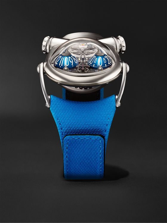 MB&F HM10 Bulldog Hand-Wound 54mm Titanium and Leather Watch