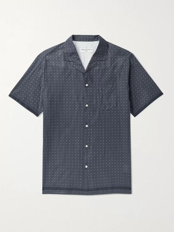 OFFICINE GÉNÉRALE Dario Camp-Collar Printed Cotton Shirt