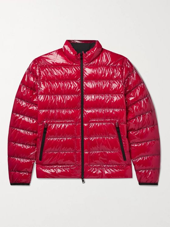 MONCLER Agar Logo-Appliquéd Quilted Glossed-Ripstop Down Jacket