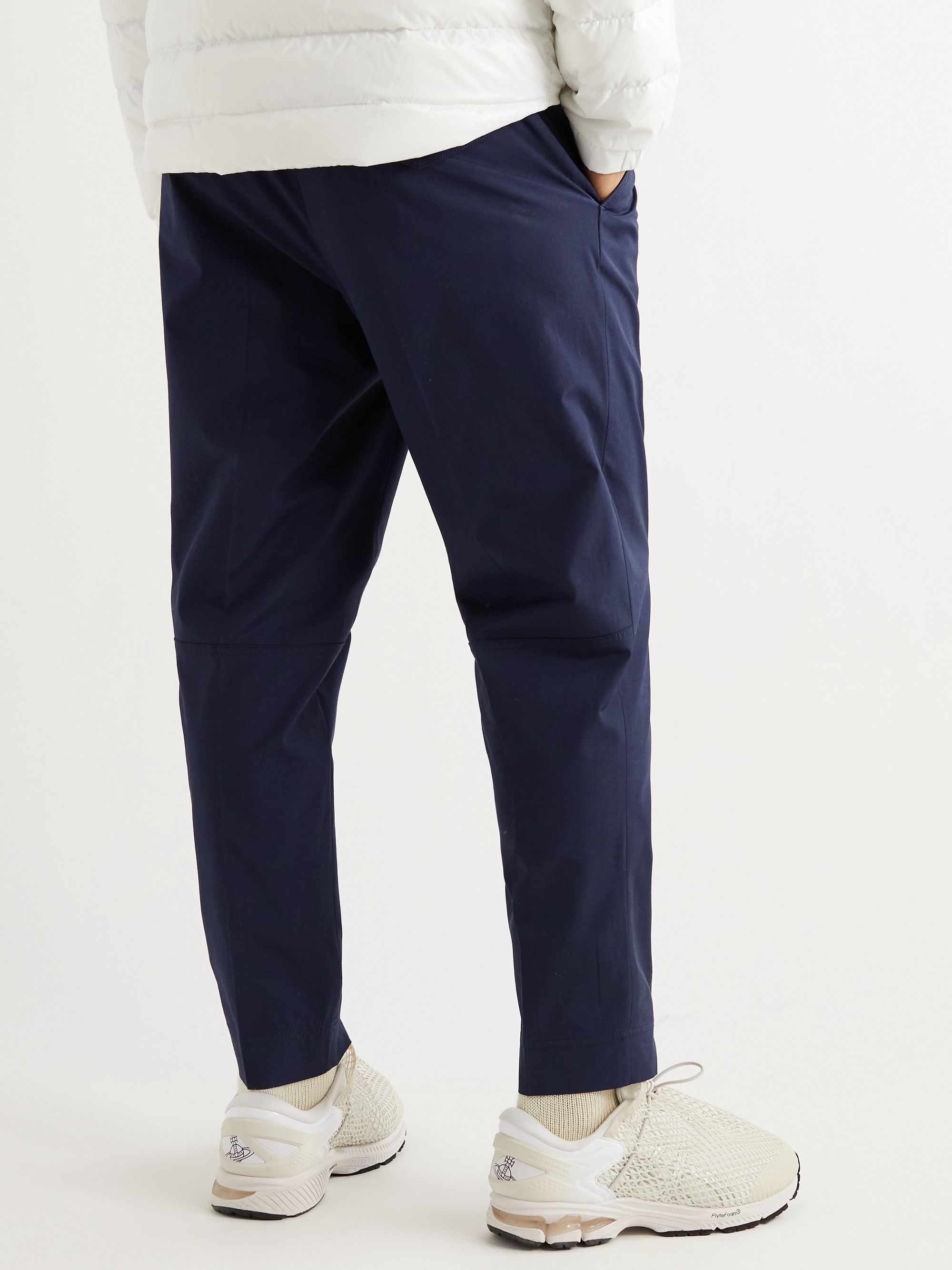 MONCLER Tapered Stretch-Cotton Drawstring Trousers