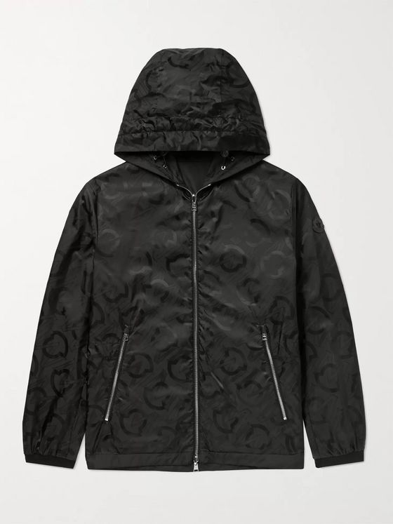 MONCLER Cordier Reversible Logo-Jacquard Shell Hooded Jacket