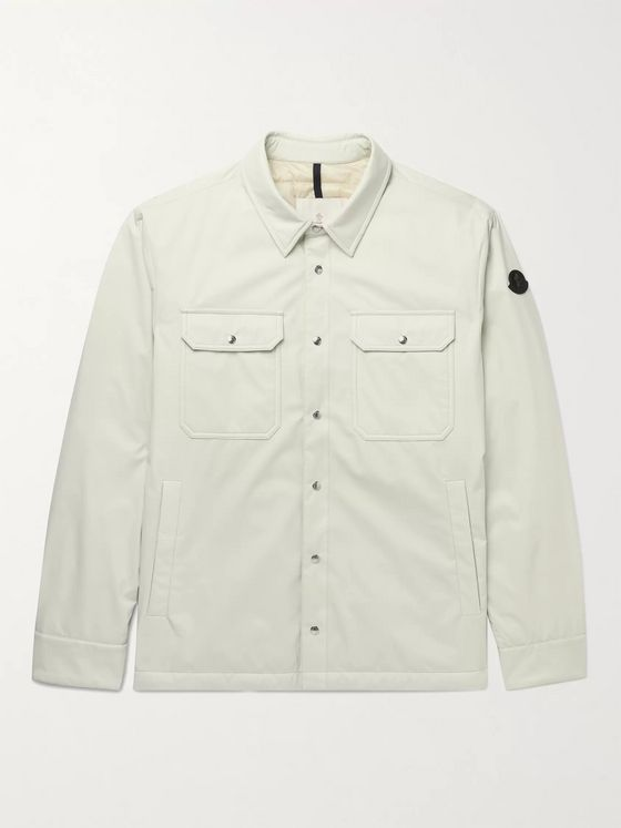 MONCLER Delly Logo-Appliquéd Ripstop Down Overshirt