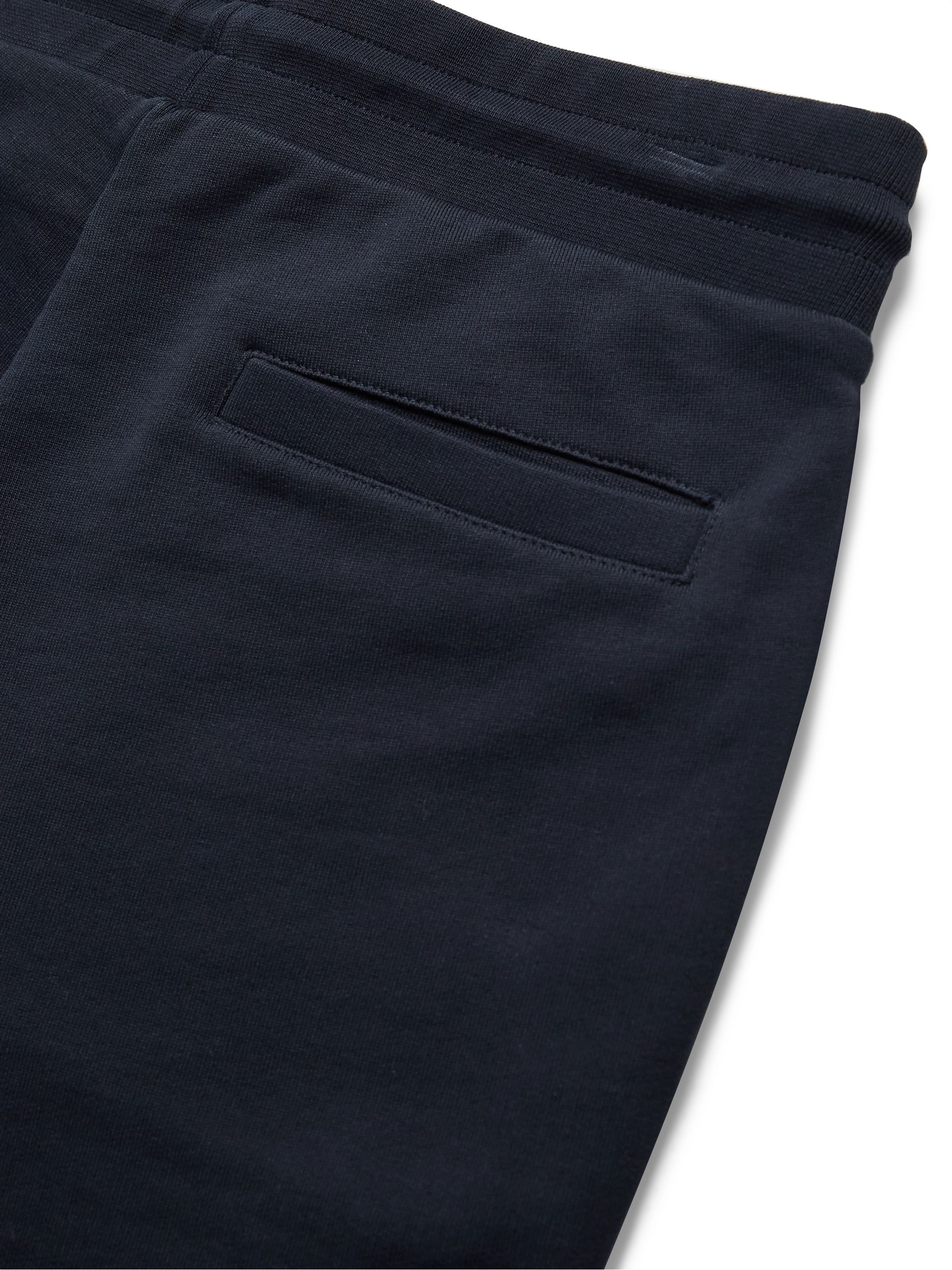 MONCLER Slim-Fit Tapered Logo-Embroidered Loopback Cotton-Jersey Sweatpants