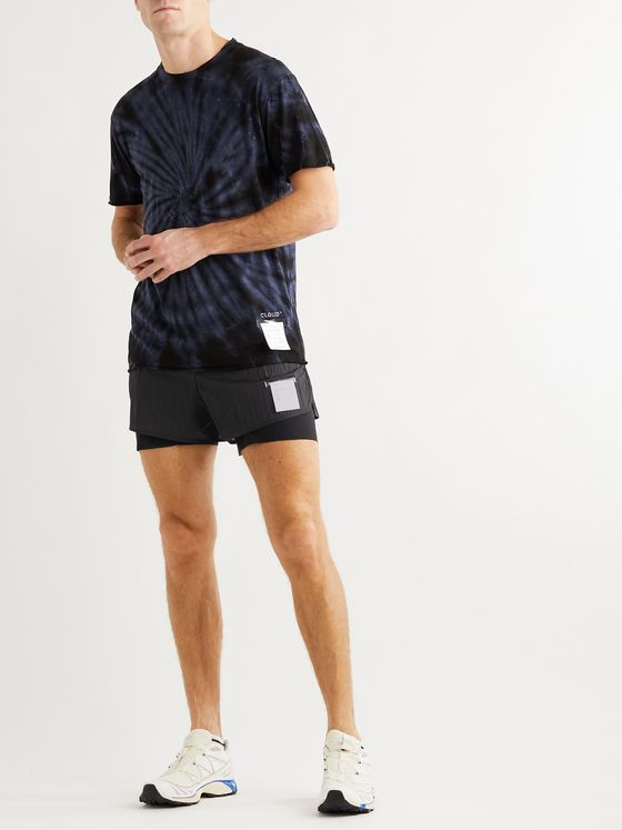 Satisfy Layered Crinkled-Ripstop and Justice Trail Running Shorts