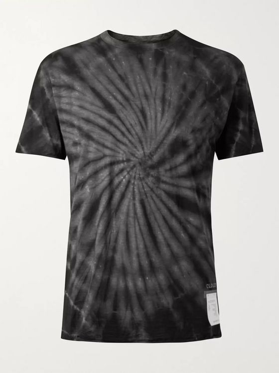 Satisfy Cloud Tie-Dyed Merino Wool Running T-Shirt