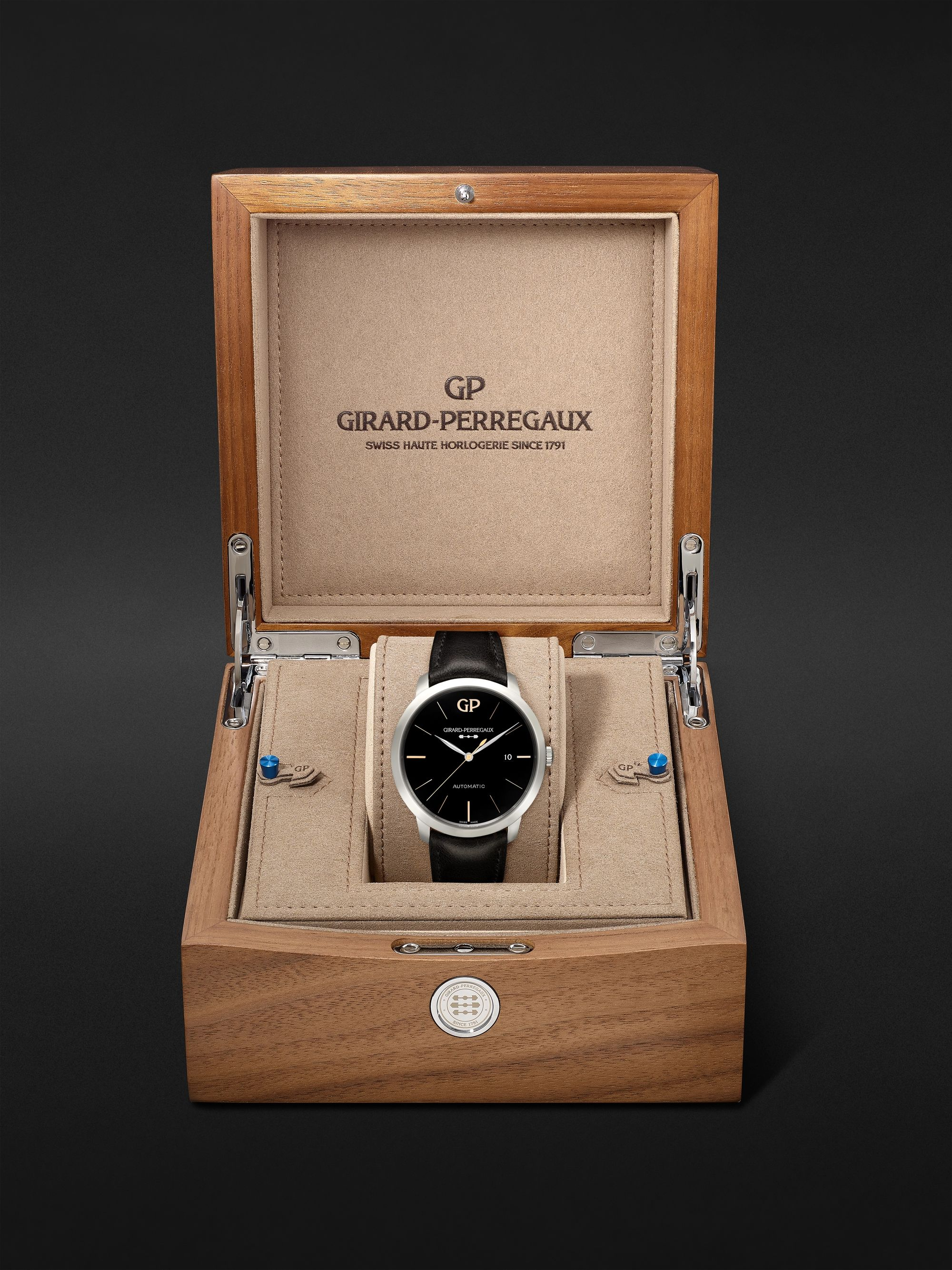 Girard-Perregaux 1966 Infinity Edition Automatic 40mm Stainless Steel and Leather Watch, Ref. No. 49555-11-632-BB60