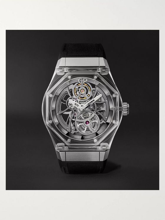 Girard-Perregaux Laureato Absolute Light Automatic Skeleton 44mm Titanium and Rubber Watch