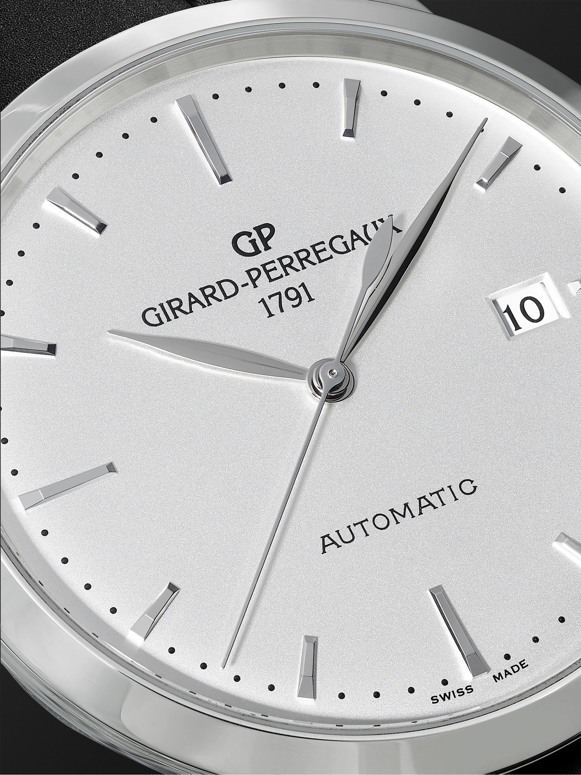 GIRARD-PERREGAUX 1966 Automatic 40mm Stainless Steel and Croc-Effect Leather Watch, Ref. No. 49555-11-131-BB60