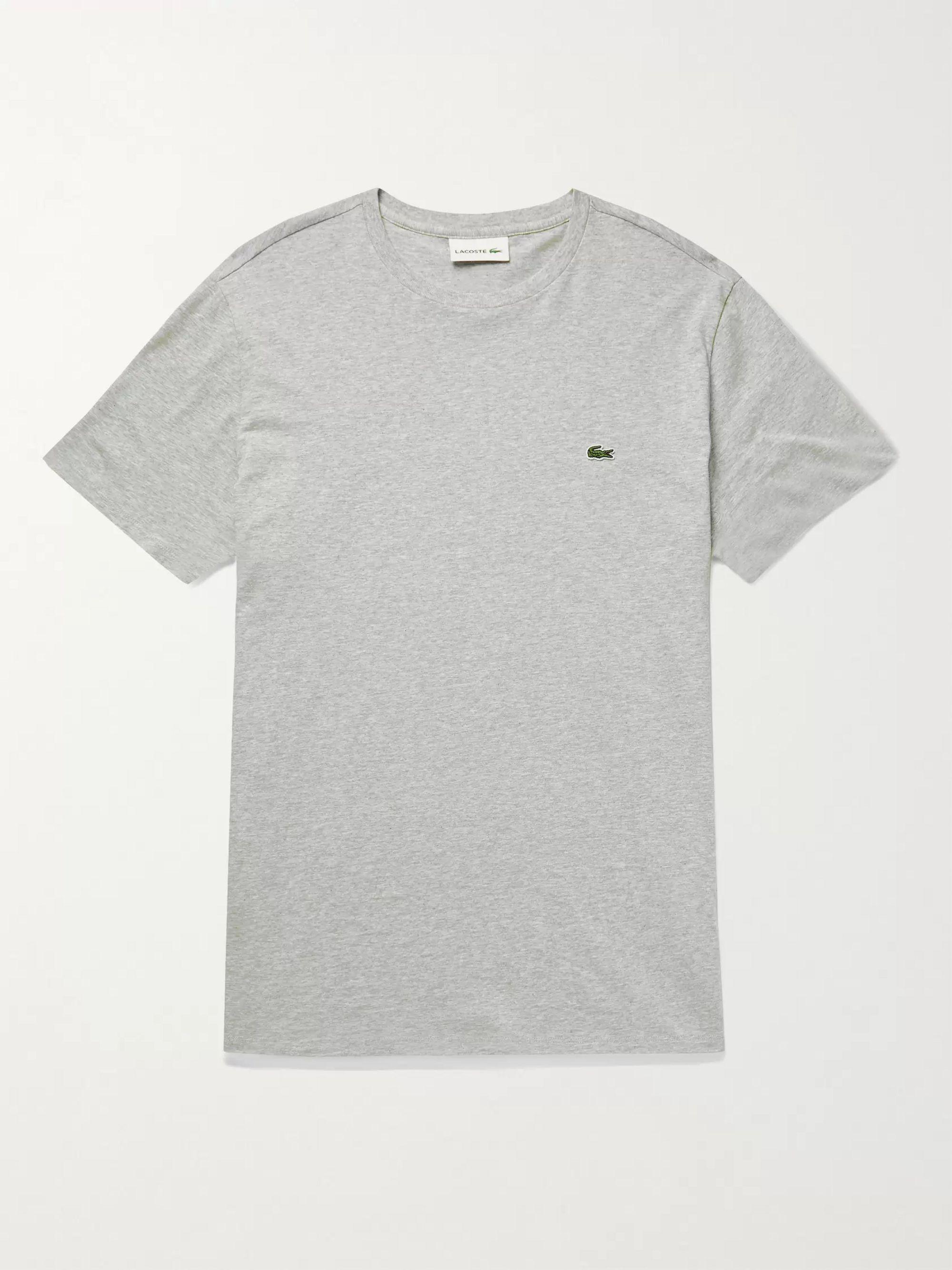 Lacoste Logo-Appliqued Pima Cotton-Jersey T-Shirt