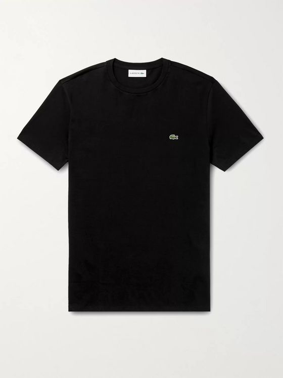 Lacoste Slim-Fit Logo-Appliquéd Cotton-Jersey T-Shirt