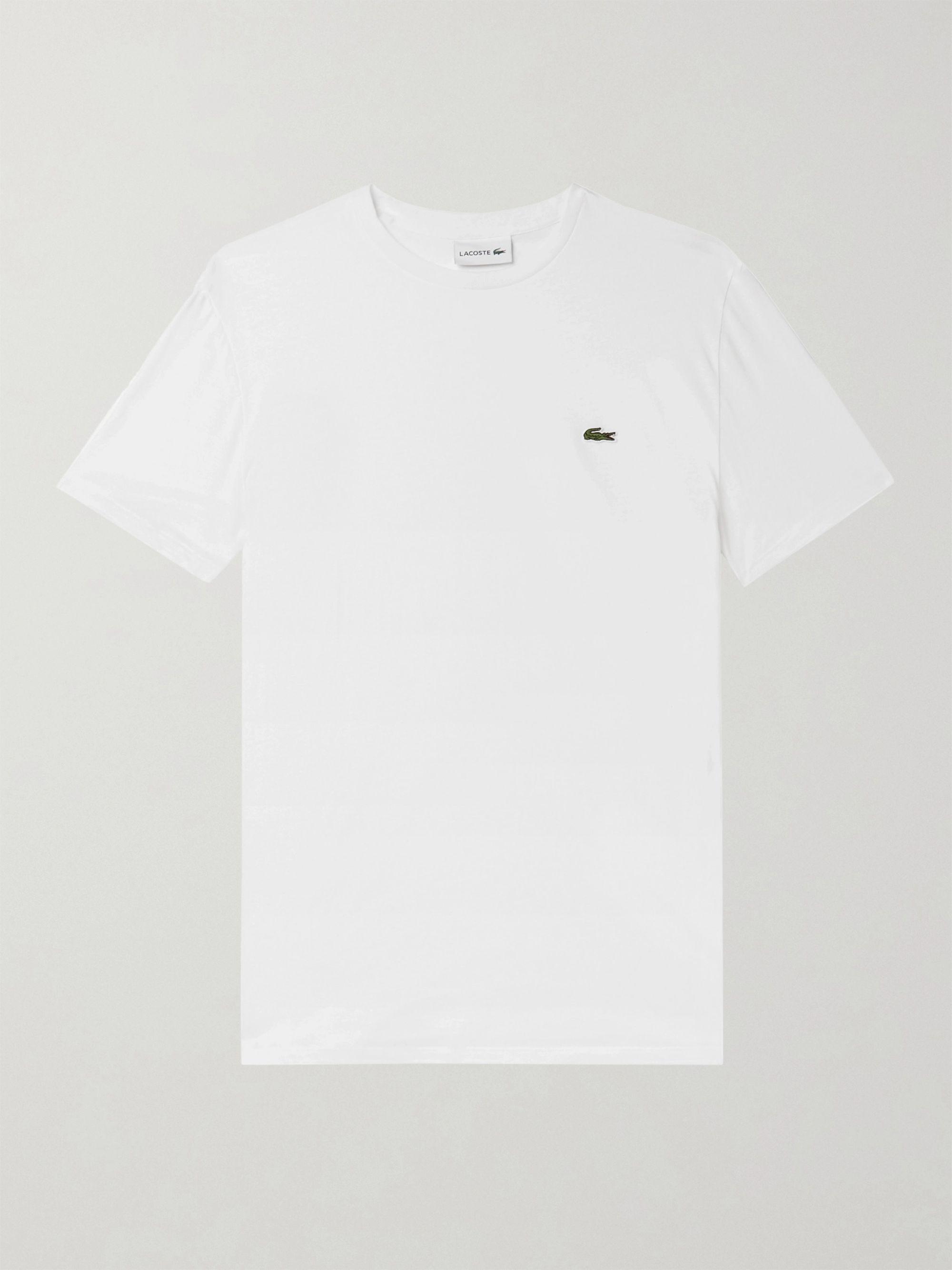 Lacoste Slim-Fit Logo-Appliqued Cotton-Jersey T-Shirt