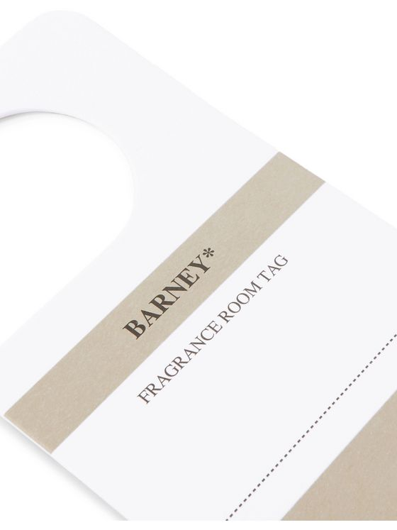 retaW Barney Fragrance Room Tag