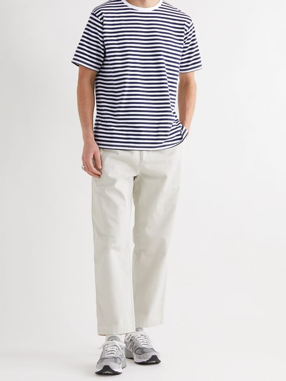 NANAMICA Striped COOLMAX Cotton-Blend Jersey T-Shirt