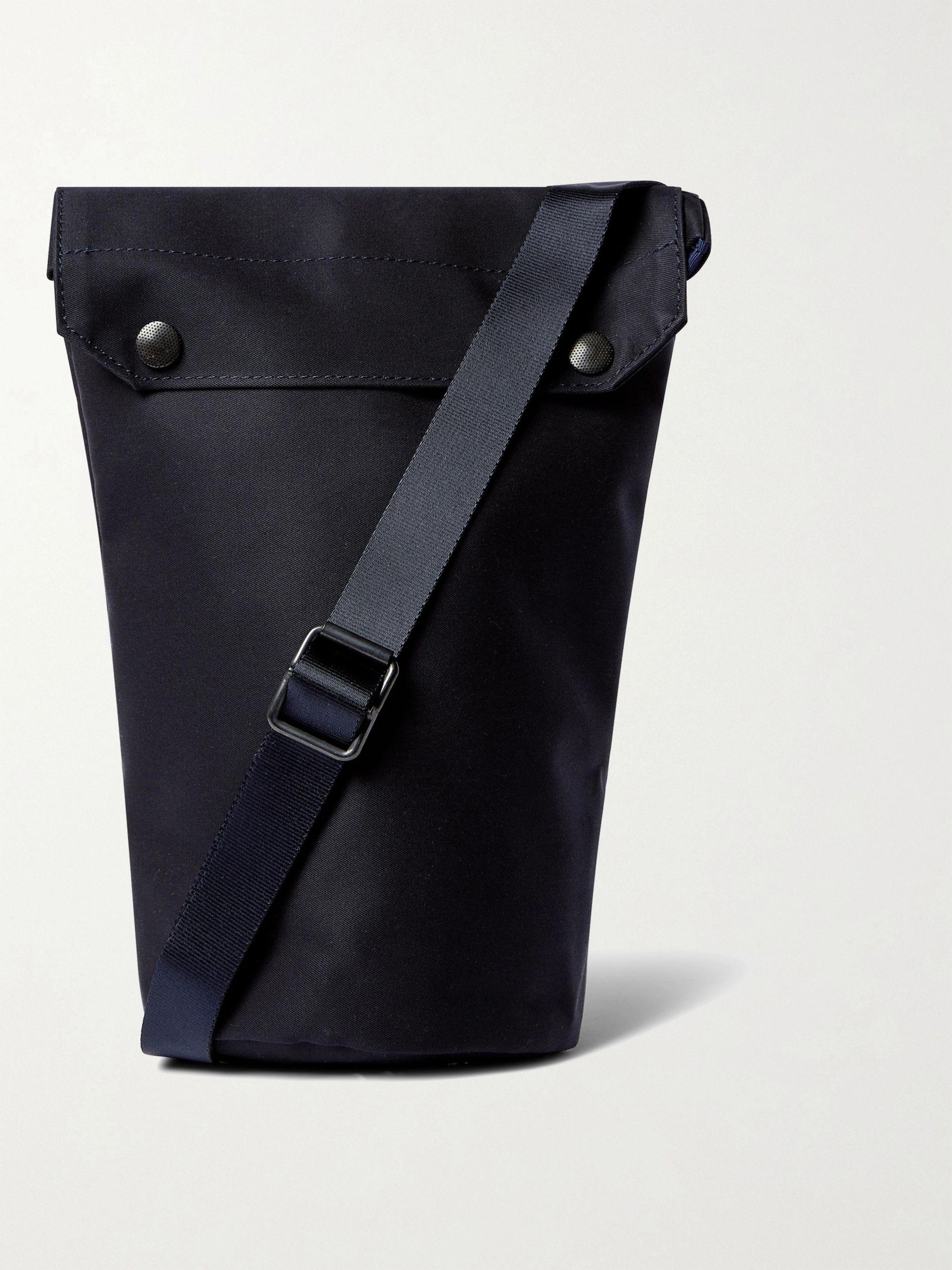 NANAMICA Cotton-Shell Messenger Bag,Navy