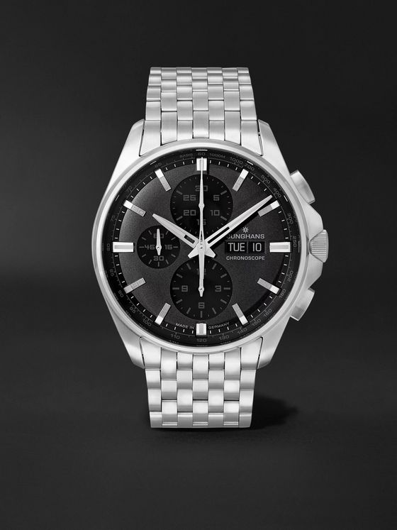 JUNGHANS Meister S Chronoscope Automatic 45mm Stainless Steel Watch, Ref. No. 027/4024.45