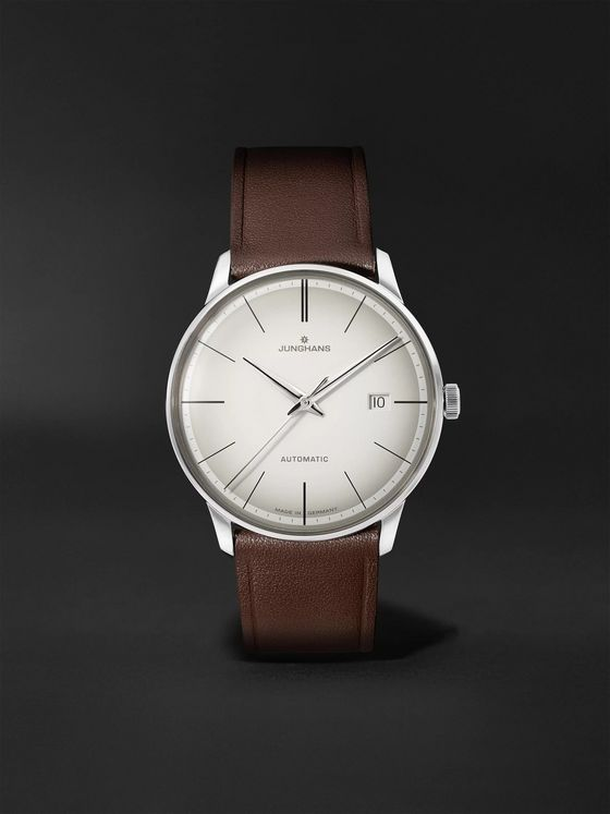JUNGHANS Meister Automatic 38mm Stainless Steel and Leather Watch, Ref. No. 027/4050.00