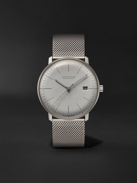 JUNGHANS Max Bill MEGA Solar 38mm Titanium Watch, Ref. No. 059/2022.48