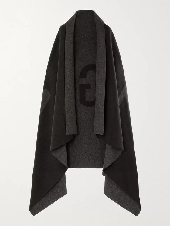 Fear of God for Ermenegildo Zegna Logo-Intarsia Wool and Cashmere-Blend Blanket