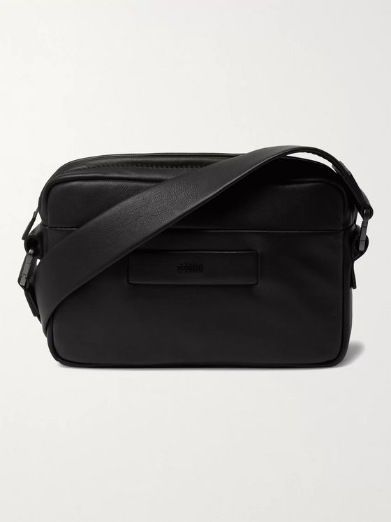 Fear of God for Ermenegildo Zegna Logo-Detailed Leather Messenger Bag