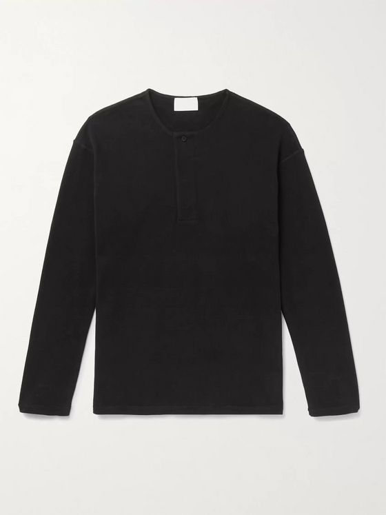 Fear of God for Ermenegildo Zegna Cotton-Jersey Henley T-Shirt