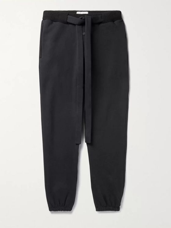 Fear of God for Ermenegildo Zegna Slim-Fit Belted Cotton-Blend Jersey Track Pants