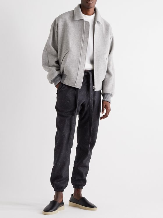 Fear of God for Ermenegildo Zegna Tapered Mélange Wool-Felt Sweatpants