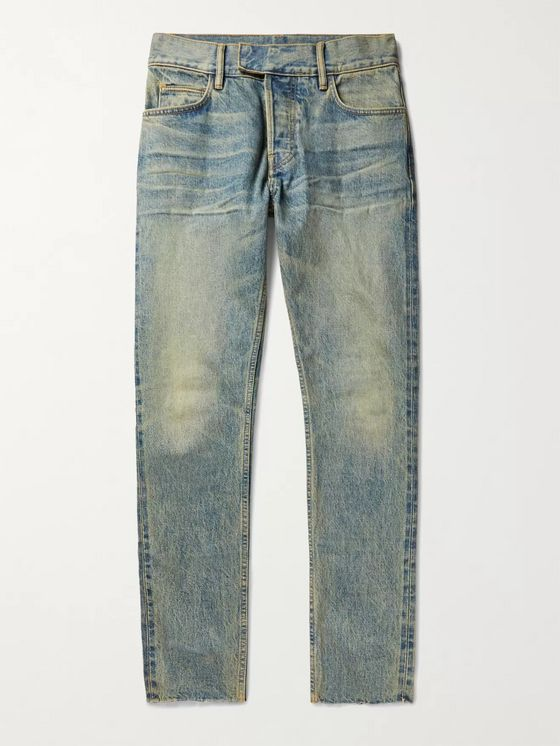 Fear of God for Ermenegildo Zegna Slim-Fit Distressed Denim Jeans