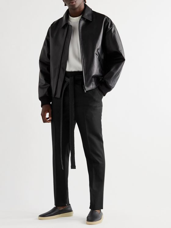 Fear of God for Ermenegildo Zegna Slim-Fit Tapered Pleated Wool-Twill Trousers