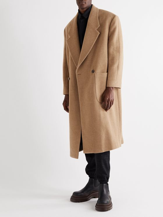 Fear of God for Ermenegildo Zegna Oversized Double-Breasted Mélange Wool Coat