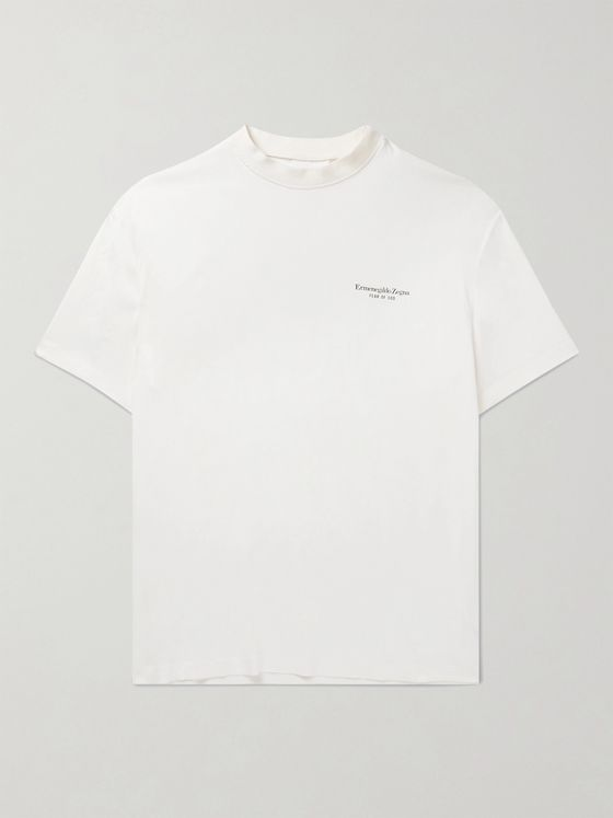 Fear of God for Ermenegildo Zegna Oversized Logo-Print Crepe T-Shirt