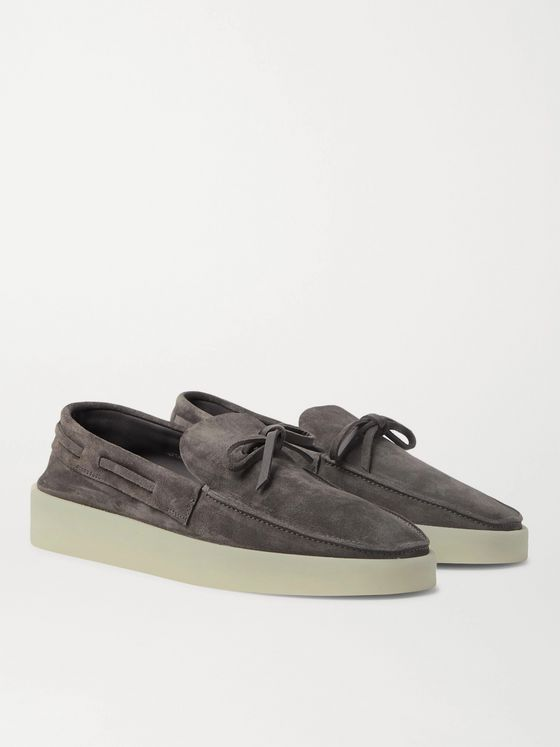 Fear of God for Ermenegildo Zegna Suede Boat Shoes
