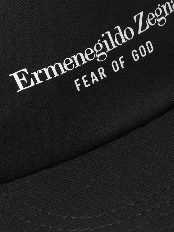 Fear of God for Ermenegildo Zegna Logo-Print Cotton-Twill Baseball Cap
