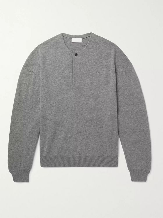Fear of God for Ermenegildo Zegna Knitted Wool Half-Placket Sweater