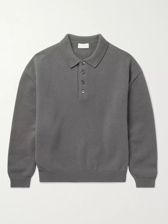 Fear of God for Ermenegildo Zegna Wool Polo Shirt
