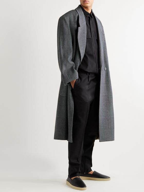 Fear of God for Ermenegildo Zegna Oversized Double-Breasted Herringbone Wool and Cashmere-Blend Coat