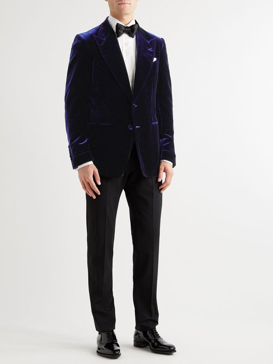 TOM FORD Shelton Slim-Fit Velvet Tuxedo Jacket