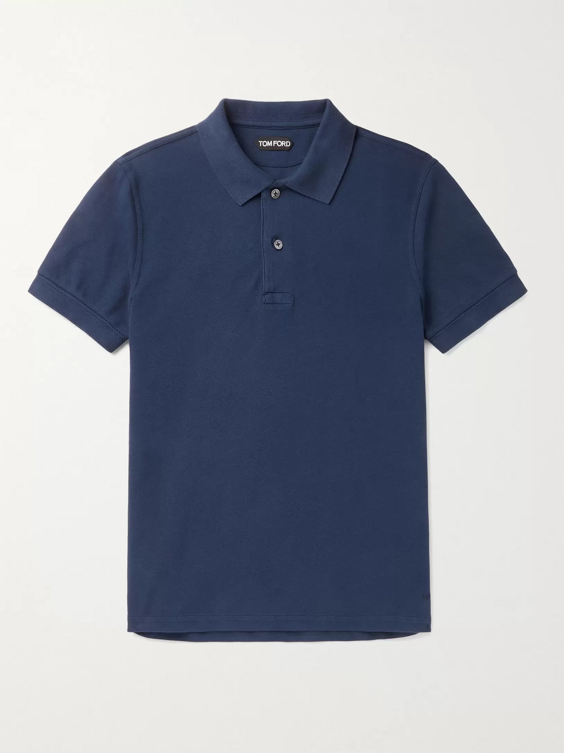 Tom Ford GARMENT-DYED COTTON-PIQUÉ POLO SHIRT