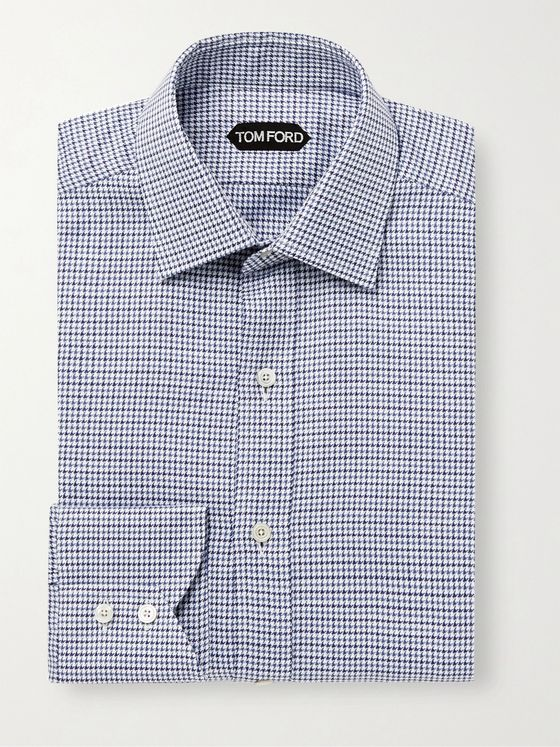 TOM FORD Slim-Fit Puppytooth Cotton Shirt