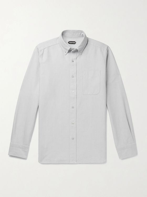 TOM FORD Button-Down Collar Cotton-Poplin Shirt