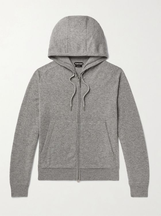 TOM FORD Mélange Cashmere and Wool-Blend Hoodie