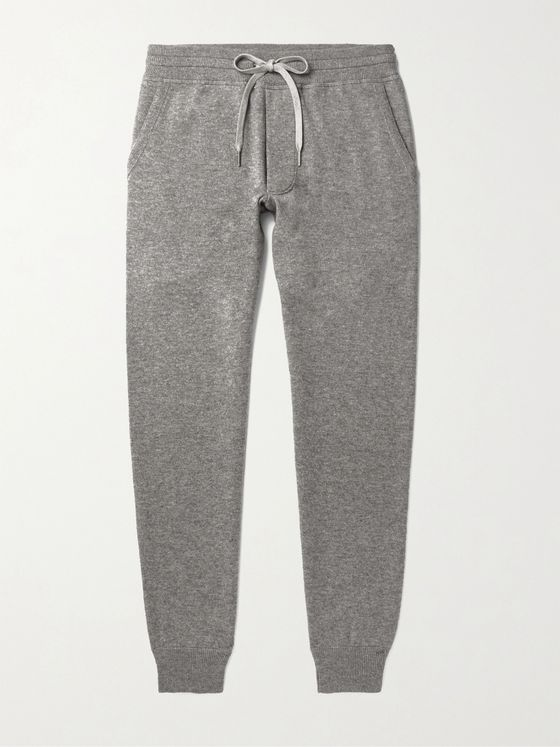 TOM FORD Mélange Cashmere and Wool-Blend Sweatpants